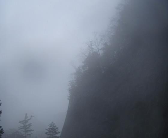 天竜川の霧